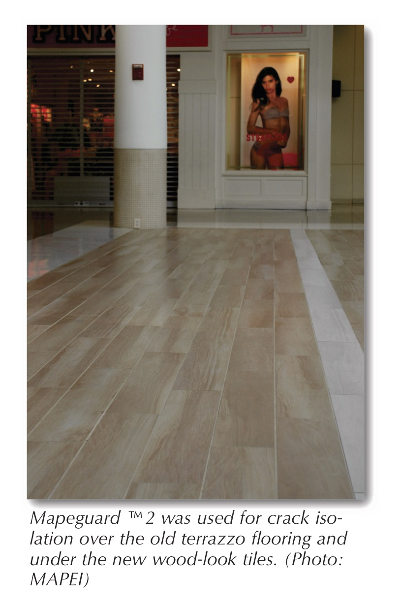 Feature mapei corporation january 2015 tileletter with a properly prepared substrate to work on the installers began setting 8 x 48 porcelain tiles with the look of wood planks a very new and popular doublecrazyfo Image collections