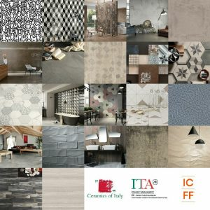 Ceramics of Italy is gearing up for ICFF at New York's Javits Center, from May 16-19 in booths 1424 + 1432 with 22 leading Italian brands.