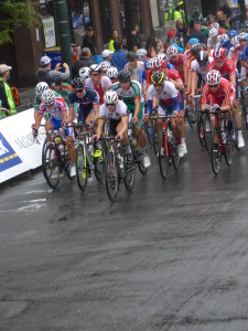 The Men's Junior Road Circuit had a rainy start on Saturday morning.
