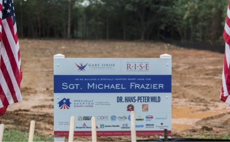 These specially adapted smart homes are built through the Gary Sinise Foundation's R.I.S.E. (Restoring Independence Supporting Empowerment) program, with support from many donors across the country.