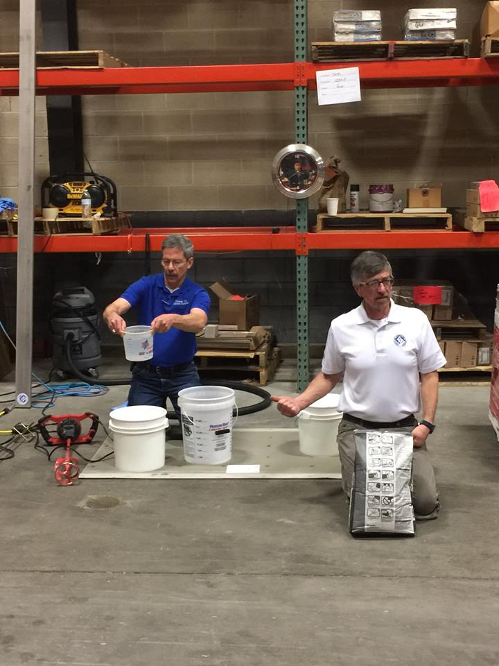 Scott and Mark doing demo at Daltile Mechanicsburg