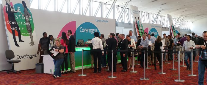 Registration at Coverings 2018