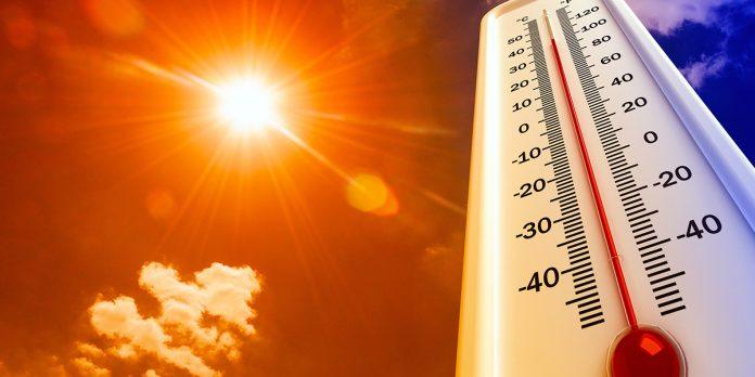 Heat, thermometer, sun