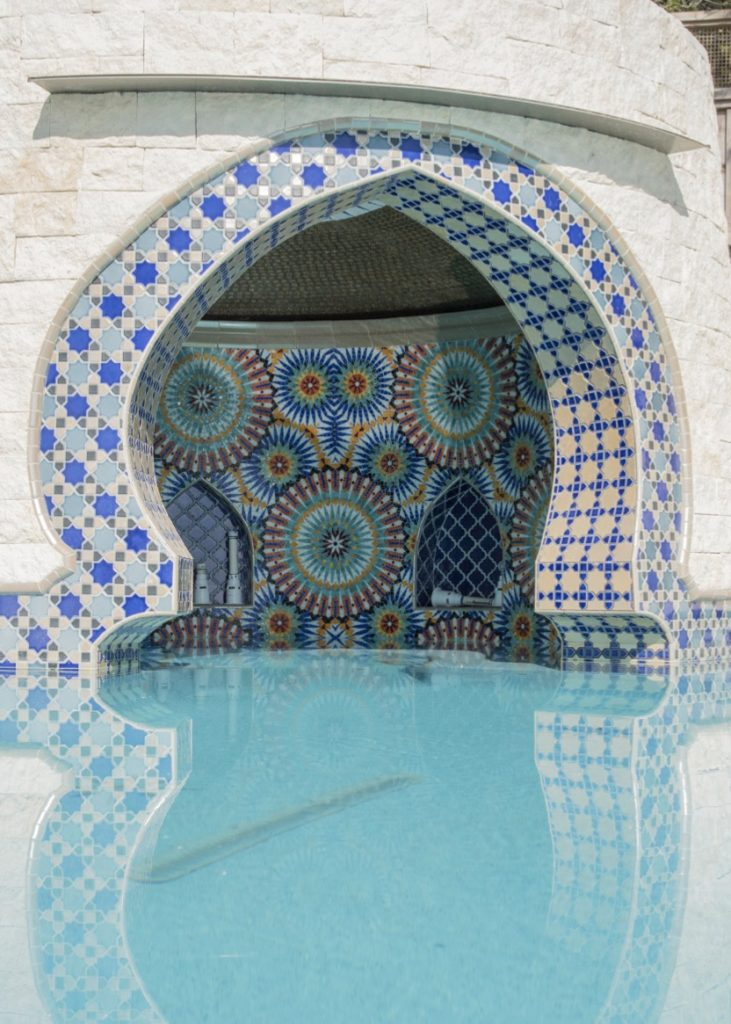 Entrance of pool grotto