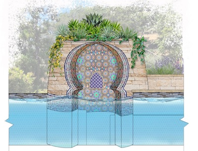 Grotto pool rendering