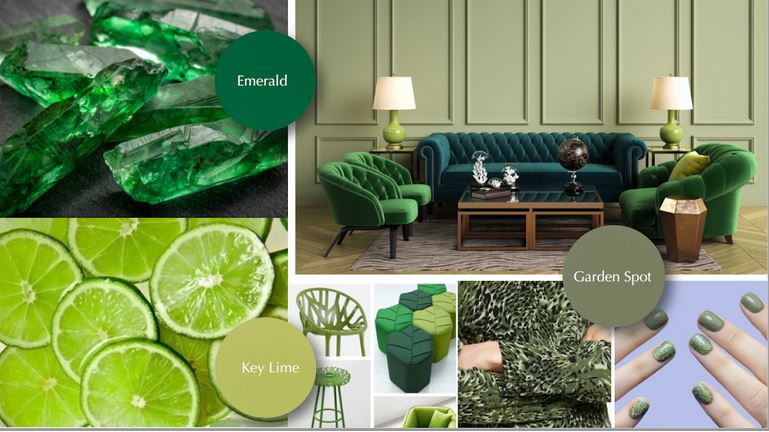 green hues collage