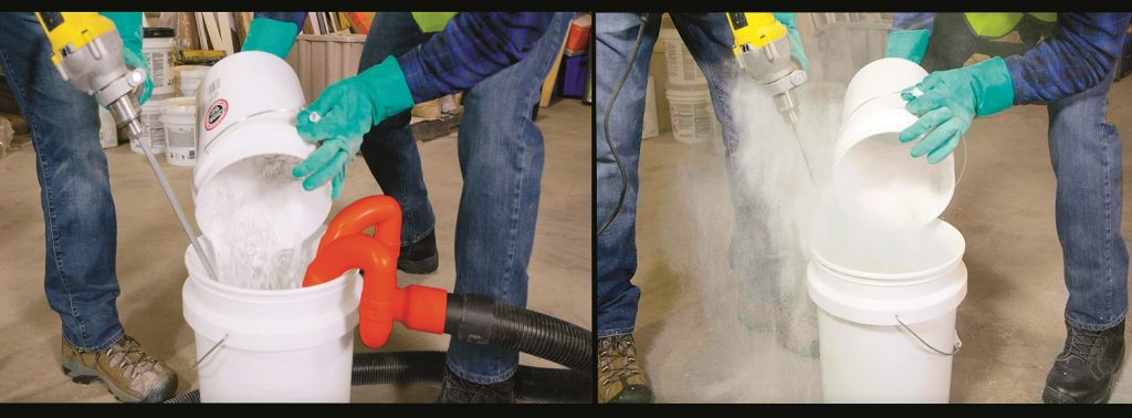 Using the Dust Hog device to control dust on a job