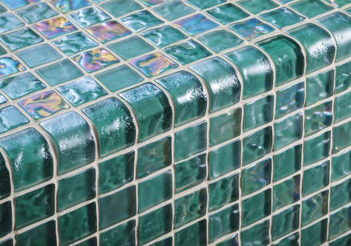Green glass mosaics