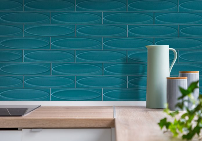 blue wall tile